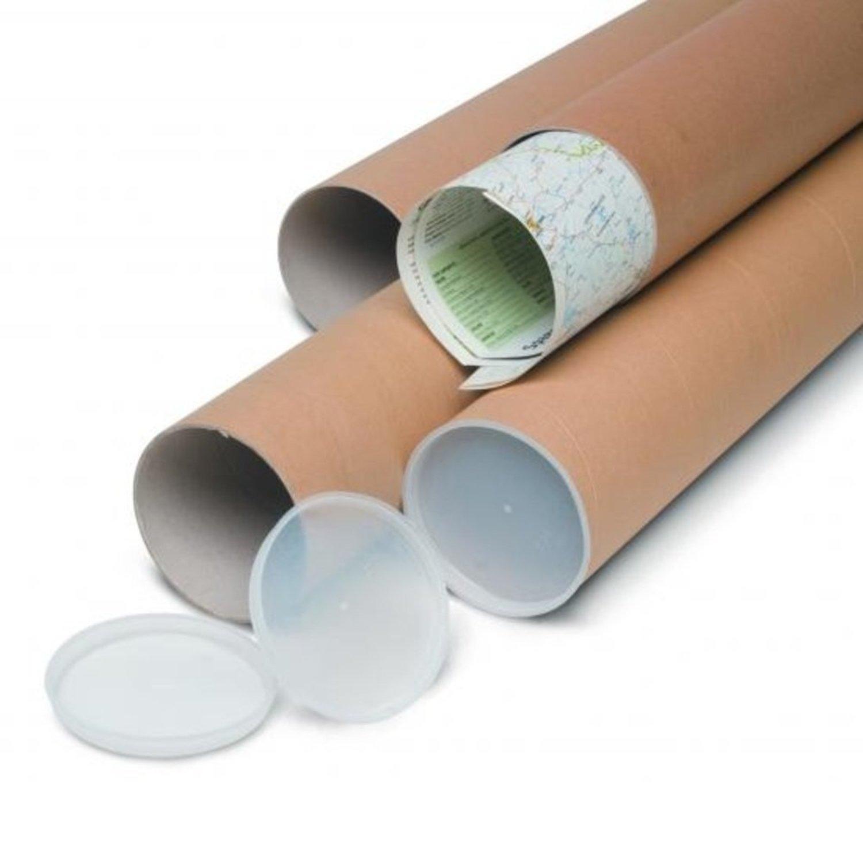 Tubo di cartone 100x7cm per spedizione disegni pellicola - Tubo porta poster ...